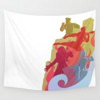 korra Wall Tapestries featuring Team Avatar 2.0 by Lauren Krugh