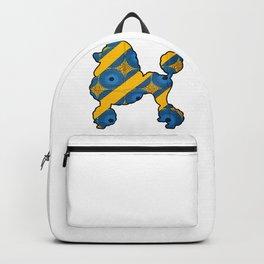 Striped Poodle Backpack