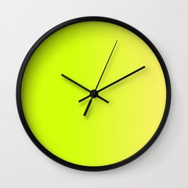 YELLOW-GREEN Neon color ombre pattern  Wall Clock