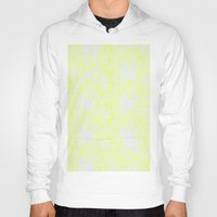 damask Hoodies featuring Damask Yellow by SimplyChic