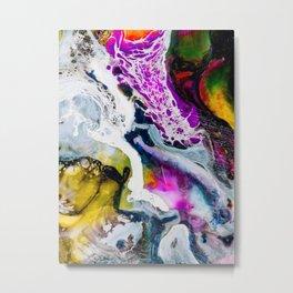 Abstract Melt V Metal Print