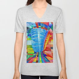 I go out with you(tube). You go out with me(ssenger)? Unisex V-Neck