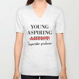 Young Aspiring Artist parody Superstar Producer Unisex V-Neck
