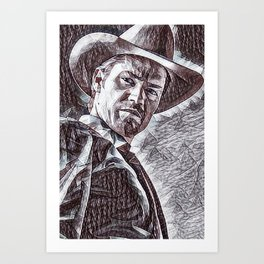 Justified - Timothy Olyphant Art Print