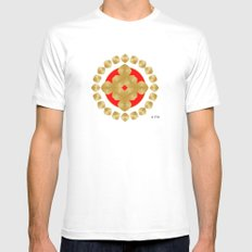 Fleuron Composition No. 82 Mens Fitted Tee MEDIUM White
