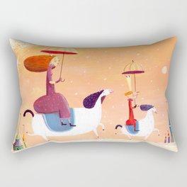 walk of princes Rectangular Pillow