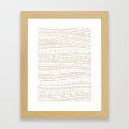 Sweater Weather in Buff Framed Art Print