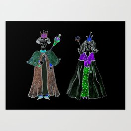 King and Queen Art Print