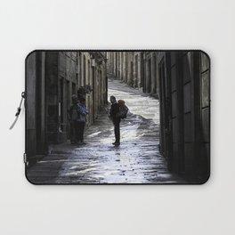 Pilgrim in Santiago de Compostela; after the walk Laptop Sleeve