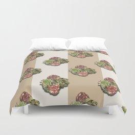 When Floral Meets Succulent (Beige & Cream) Duvet Cover