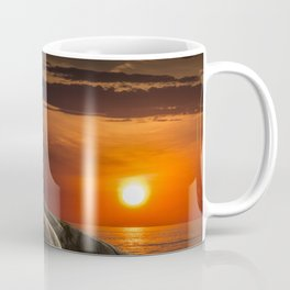 Lighthouse at Sunset in the Peggy's Cove Coffee Mug