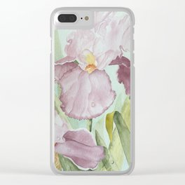Lavender Beauties (irises) Clear iPhone Case