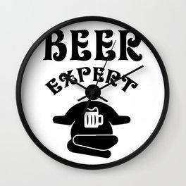 beer expert - I love beer Wall Clock