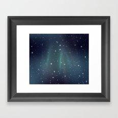Aurora Stars Framed Art Print