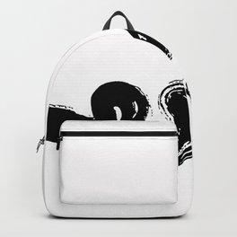 Natural Black Zen Brushstroke Backpack