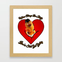 Happy Valentines Day From Gritty to YOU! Framed Art Print