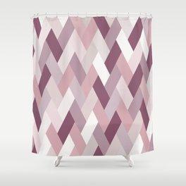 Rose, Purple, Neutral Geometry IA Shower Curtain