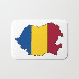 Romania Map with Romanian Flag Bath Mat