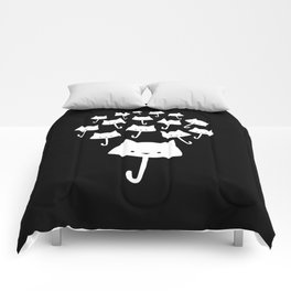 minima - cat rain Comforters