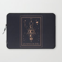 La Maison Dieu or The Tower Tarot Laptop Sleeve