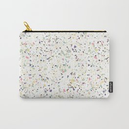Classy vintage marble terrazzo pastel abstract design Carry-All Pouch