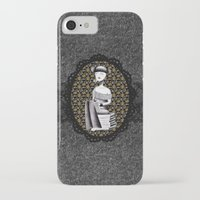 literary iPhone & iPod Cases featuring Literary girl - La littéraire by Andi Lee artworks
