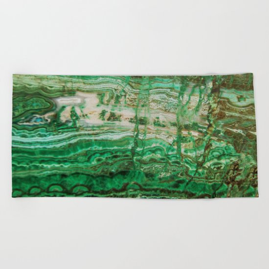 MINERAL BEAUTY - MALACHITE Beach Towel