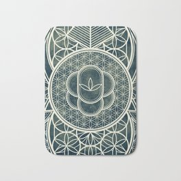 Ultra Sacred Geometry Dark Bath Mat