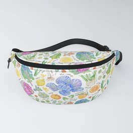 Winter Harvest Pattern Annotated Fanny Pack