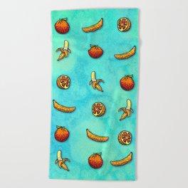 Orange Ya Glad I Didn't Say Banana? Beach Towel