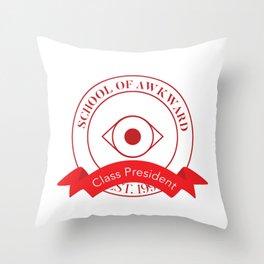 School of Awkward, Class President Throw Pillow