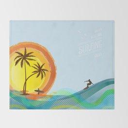 Enjoy summer Throw Blanket