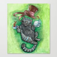 cheshire Canvas Prints featuring Cheshire by Gaab D'Amato