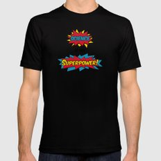 Science is my Superpower SMALL Black Mens Fitted Tee