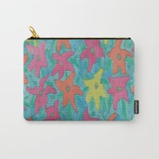 Tropical Watercolor Flowers Carry-All Pouch