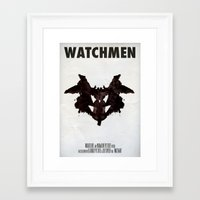 watchmen Framed Art Prints featuring Watchmen - Rorschach  by Fabio Castro