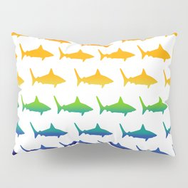 Rainbow Sharks Pillow Sham