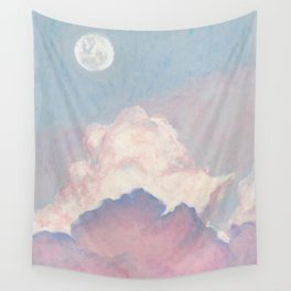 The sky where the moon is seen Wall Tapestry