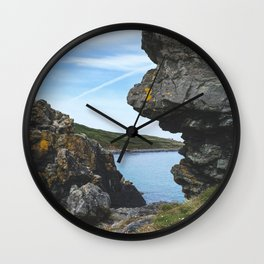 Sea View Through the Rocks, St Ives Cornwall Wall Clock