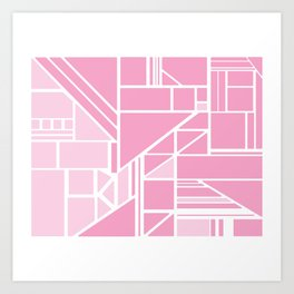 Pink with Pink Art Print