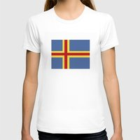 finland T-shirts featuring aaland country flag finland by tony tudor