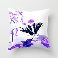onward Throw Pillows featuring Onward  by a.rose