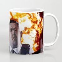 hot fuzz Mugs featuring Hot Fuzz by Richtoon