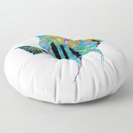 Original Mandala Angelfish - Tropical Fish Beach Art - Sharon Cummings Floor Pillow