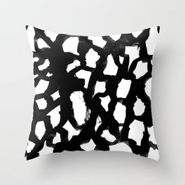 Elia - abstract painting minimal modern art print home decor must haves Throw Pillow