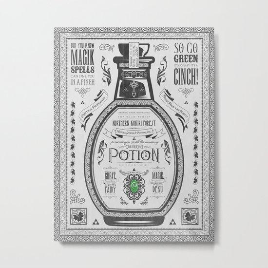 Legend of Zelda Green Chu Potion Advertisement Metal Print