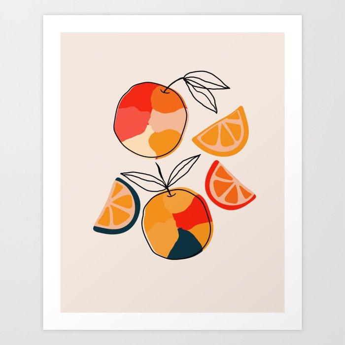Juicy Citrus Art Print