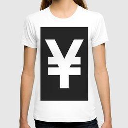Yen Sign (White & Black) T-shirt