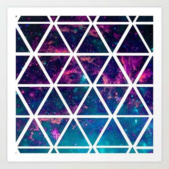 GALAXY TRIANGLES Art Print