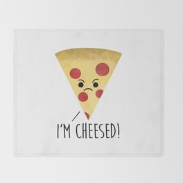 I'm Cheesed! Pizza Throw Blanket
